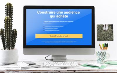 Séquence d'onboarding à la formation «Construire une audience qui achète» de Marketing Mania